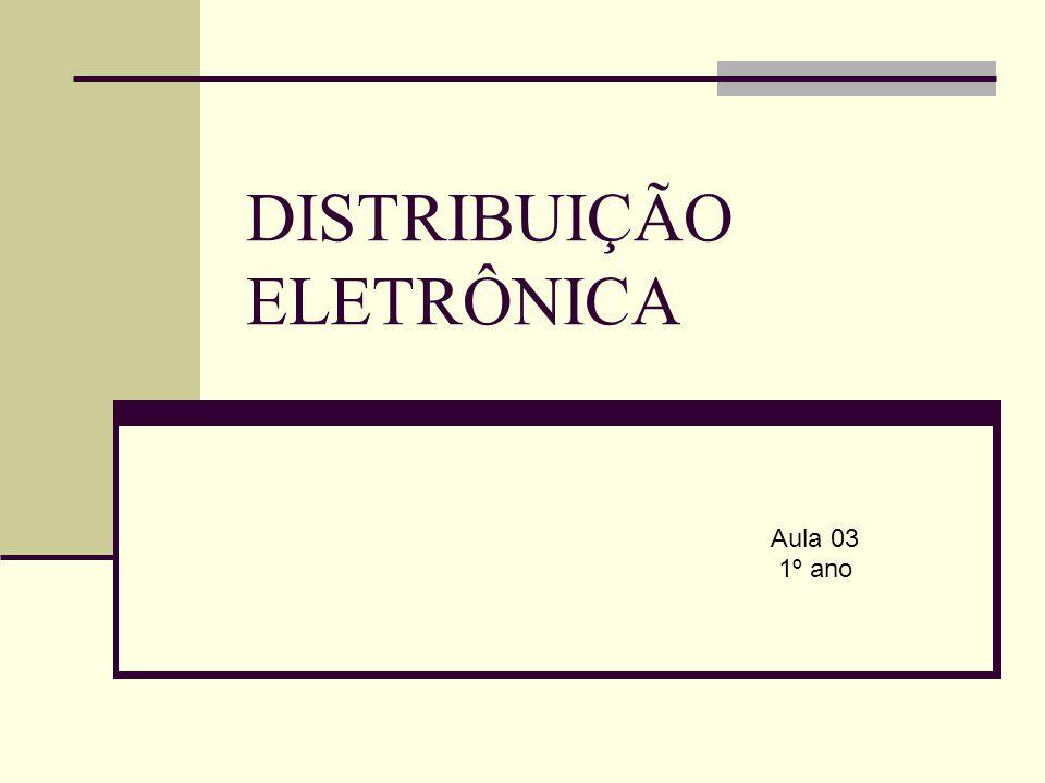 DISTRIBUIÇÃO ELETRÔNICA Aula 03 1º ano