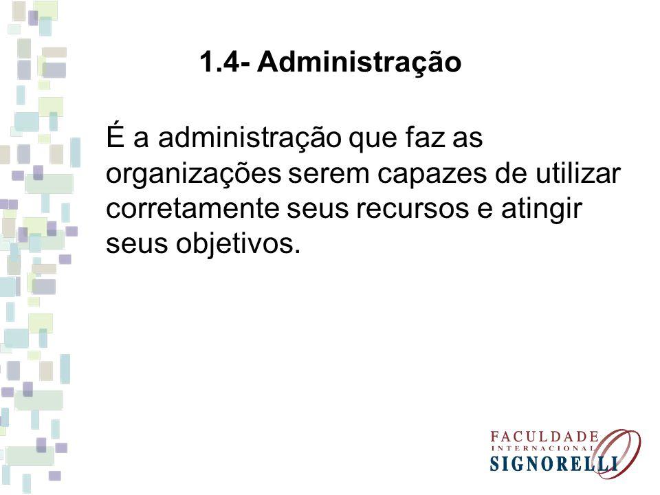 2- Eficácia e Eficiência As organizações transformam recursos em produtos e serviços, com o objetivo de resolver problemas de seus usuários e das pessoas que as criaram.