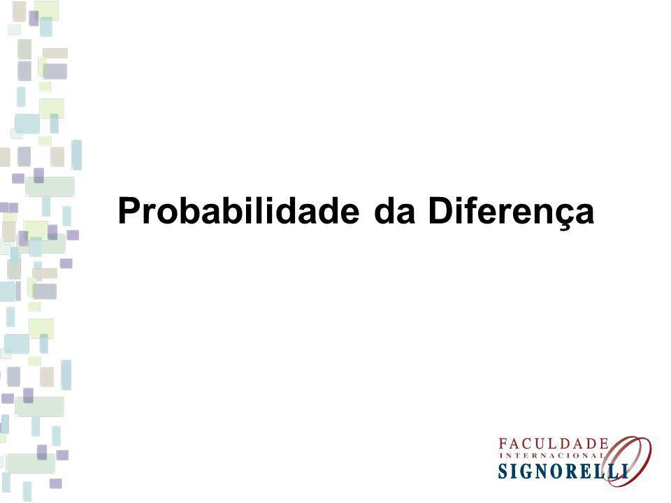 Probabilidade da Diferença