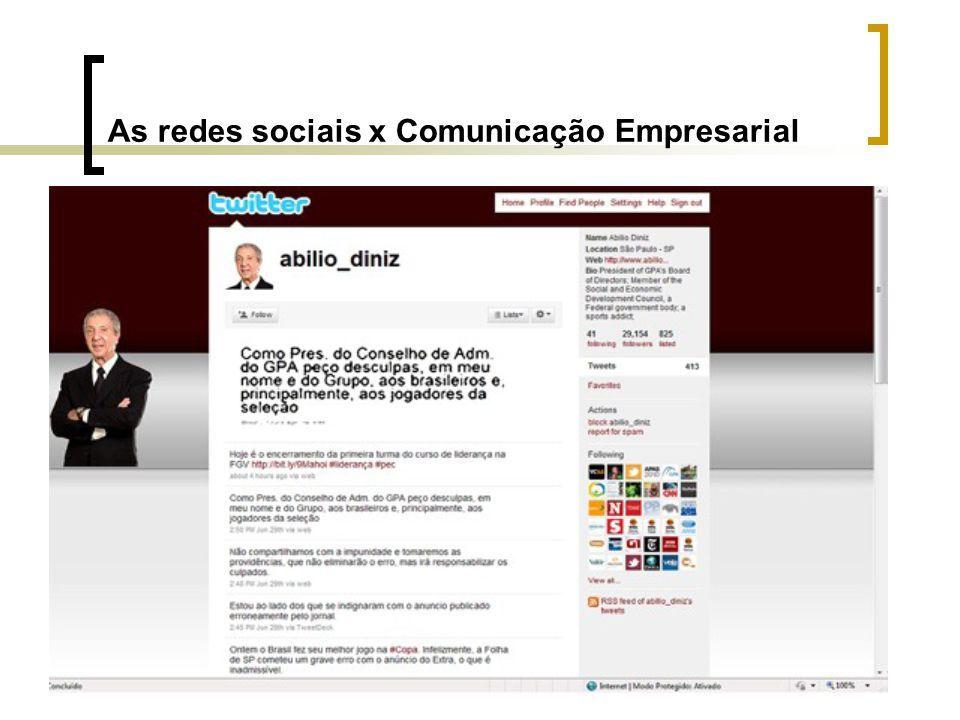 As redes sociais x Comunicação Empresarial