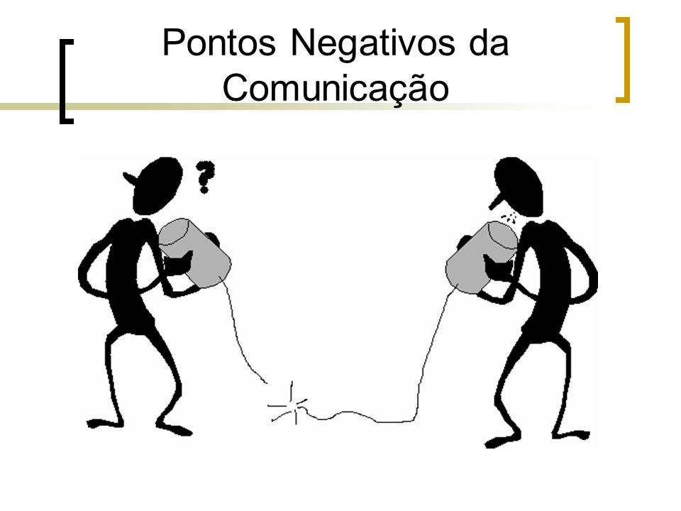 Pontos Negativos da Comunicação.