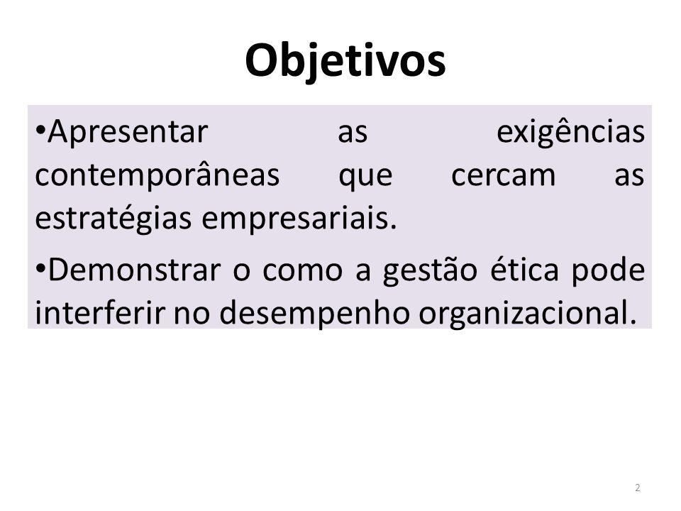 Desempenho das organizações 3 O desempenho de uma organização reflete o desempenho de seus administradores.