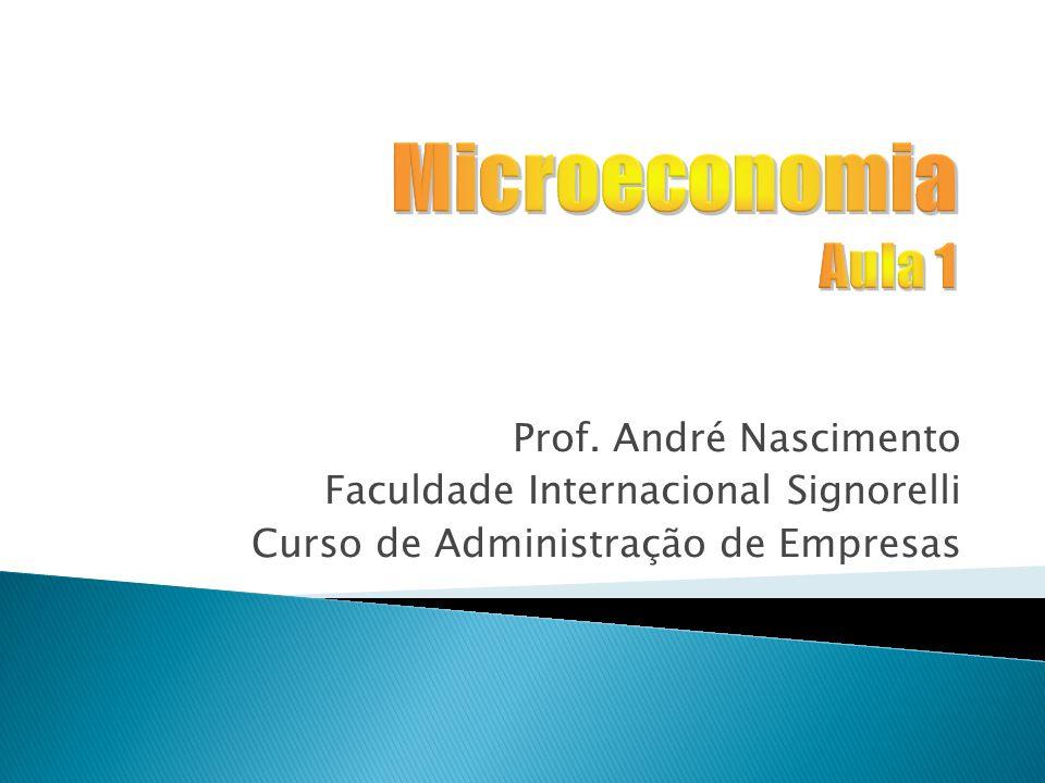 Prof. André Nascimento Faculdade Internacional Signorelli Curso de Administração de Empresas