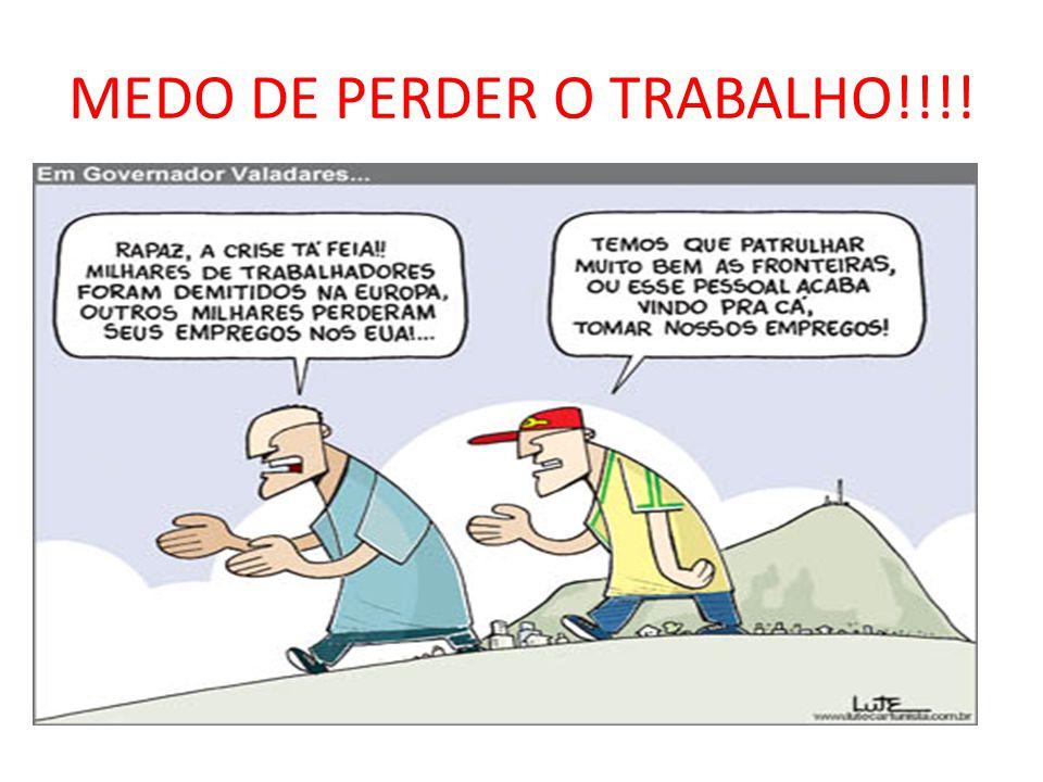 MEDO DE PERDER O TRABALHO!!!!