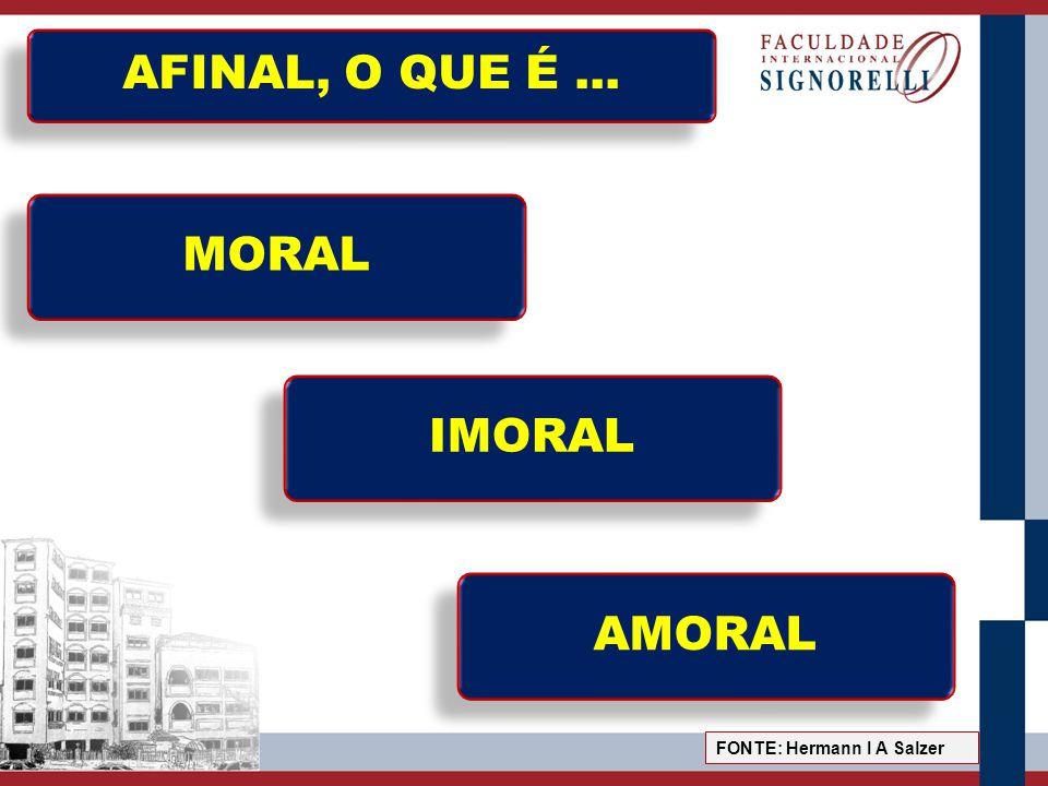 MORAL E IMORAL MORAL é tudo aquilo referente a um conjunto de princípios, preceitos, comandos, proibições, permissões, normas de conduta, valores e ideais de vida.