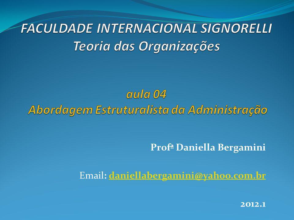 Profª Daniella Bergamini Email: daniellabergamini@yahoo.com.brdaniellabergamini@yahoo.com.br 2012.1