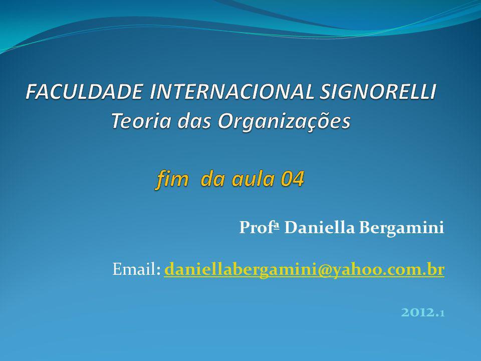 Profª Daniella Bergamini Email: daniellabergamini@yahoo.com.brdaniellabergamini@yahoo.com.br 2012.