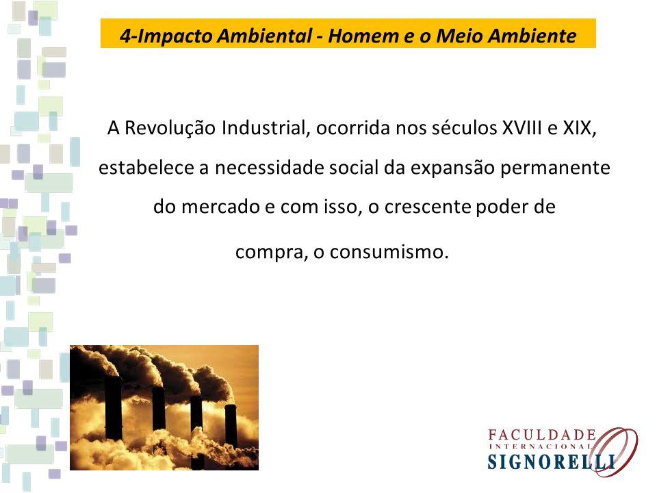 A Revolução Industrial, ocorrida nos séculos XVIII e XIX, estabelece a necessidade social da expansão permanente do mercado e com isso, o crescente po