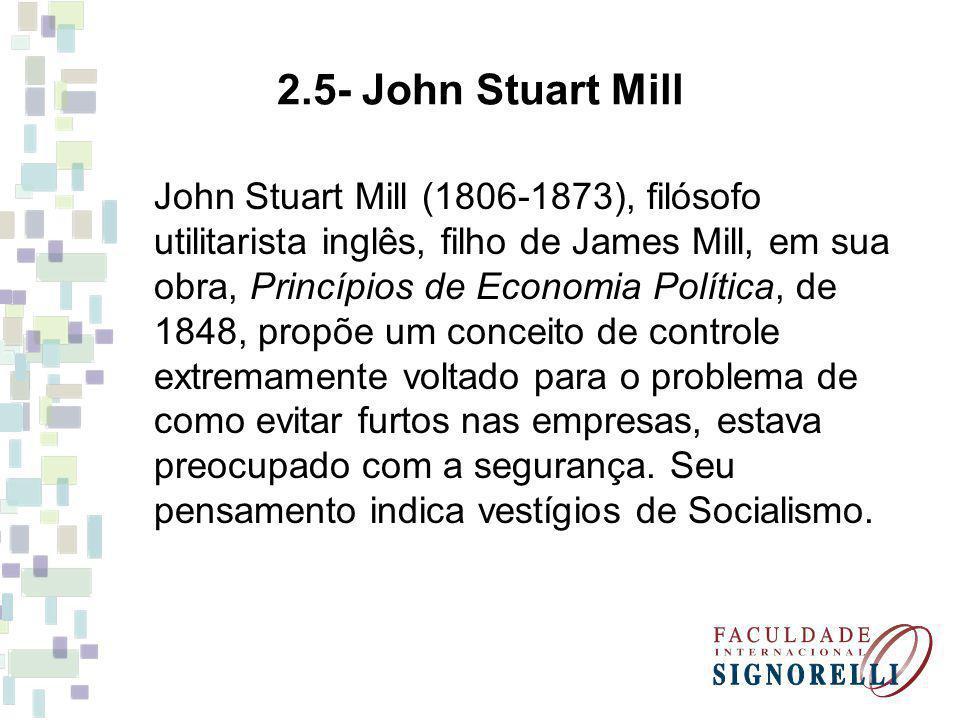 John Stuart Mill (1806-1873), filósofo utilitarista inglês, filho de James Mill, em sua obra, Princípios de Economia Política, de 1848, propõe um conc