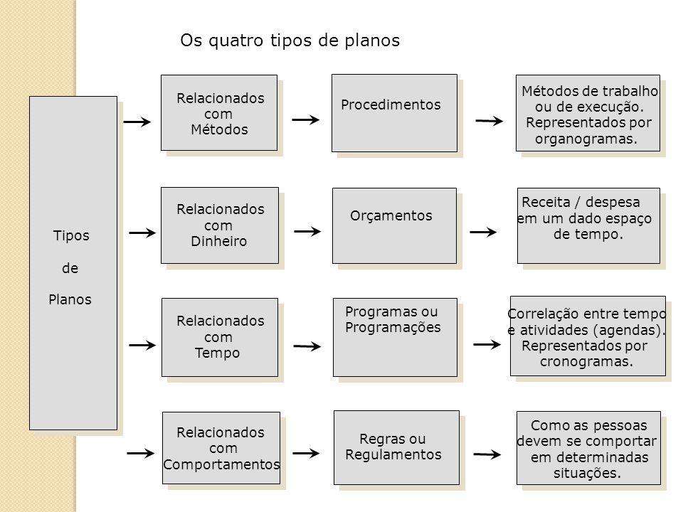 A função de organizar Organizar Dividir o trabalho Agrupar as atividades em uma estrutura lógica Designar as pessoas para sua execução Alocar os recursos Coordenar os esforços Dirigir ControlarPlanejar