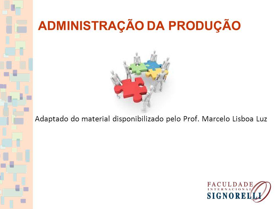 ADMINISTRAÇÃO DA PRODUÇÃO Adaptado do material disponibilizado pelo Prof. Marcelo Lisboa Luz