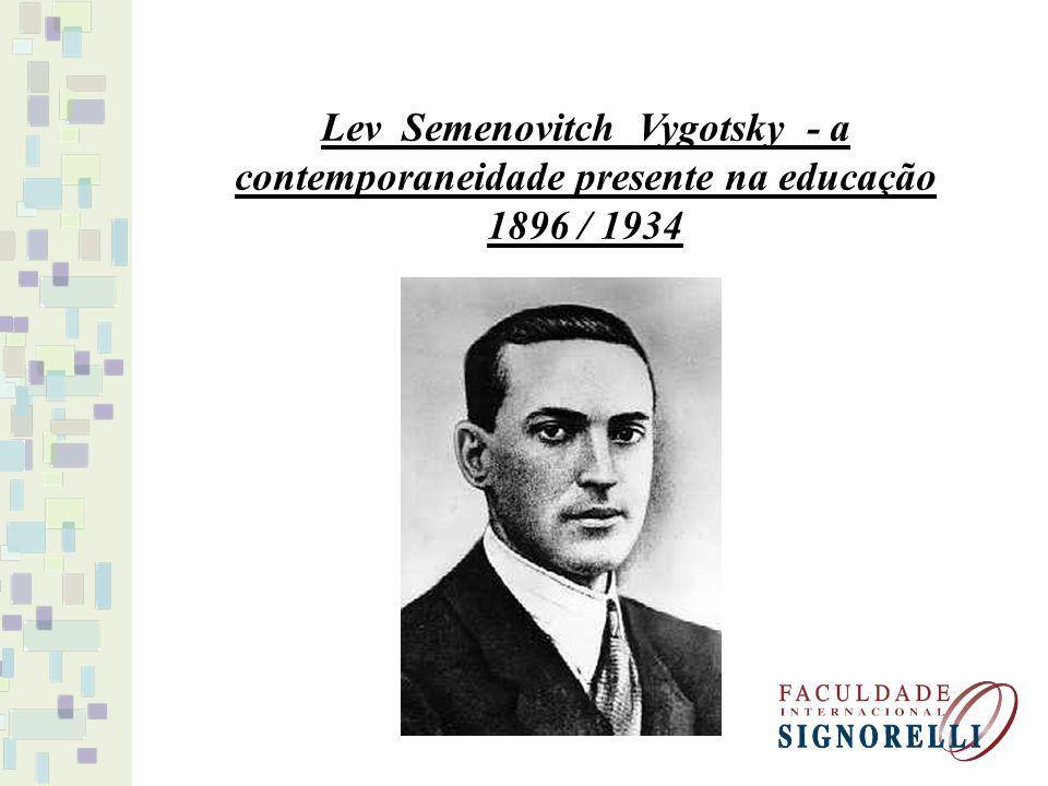 Lev Semenovitch Vygotsky - a contemporaneidade presente na educação 1896 / 1934
