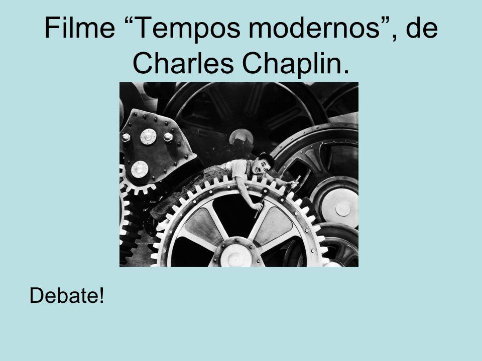 Filme Tempos modernos, de Charles Chaplin. Debate!