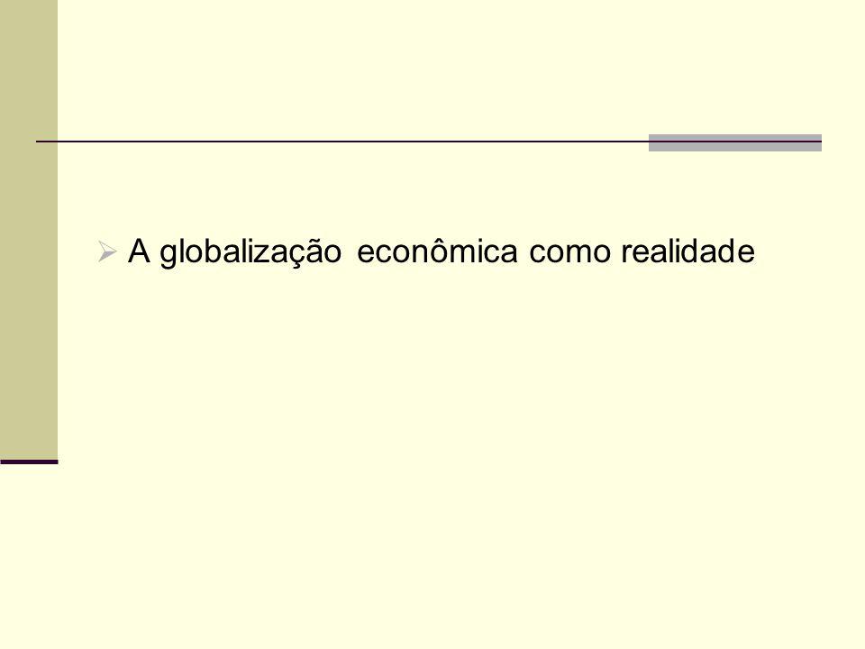 A globalização econômica como realidade