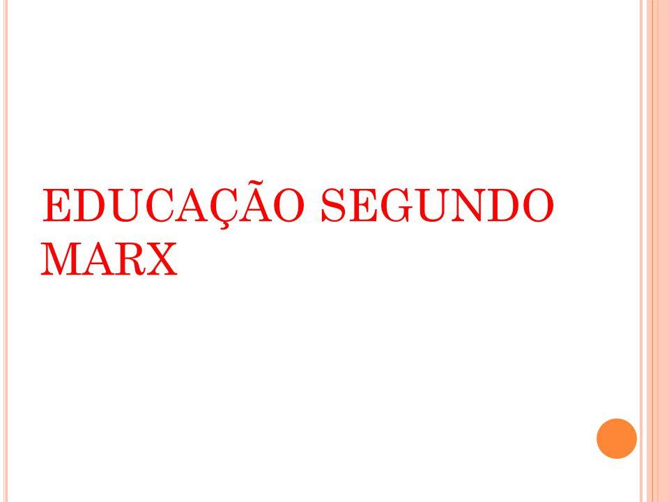 EDUCAÇÃO SEGUNDO MARX