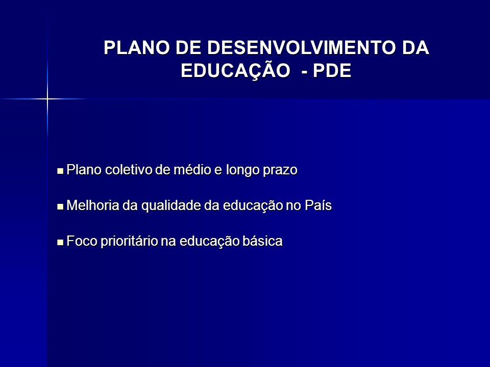 Plano coletivo de médio e longo prazo Plano coletivo de médio e longo prazo Melhoria da qualidade da educação no País Melhoria da qualidade da educaçã