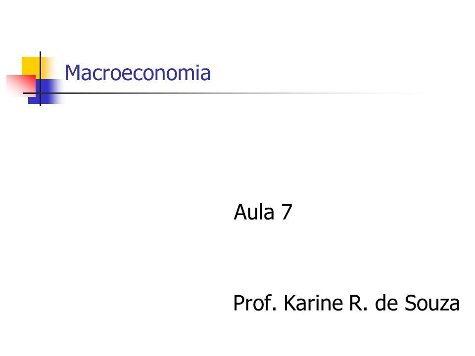 Macroeconomia Aula 7 Prof. Karine R. de Souza