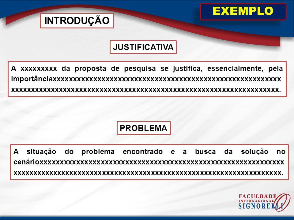 JUSTIFICATIVA EXEMPLO PROBLEMA A situação do problema encontrado e a busca da solução no cenárioxxxxxxxxxxxxxxxxxxxxxxxxxxxxxxxxxxxxxxxxxxxxxxxxxxxxxx