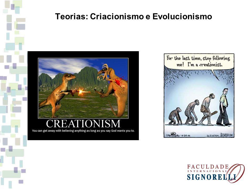 Teorias: Criacionismo e Evolucionismo