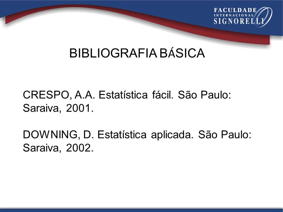 BIBLIOGRAFIA COMPLEMENTAR FONSECA, J.S.; ANDRADE, G.