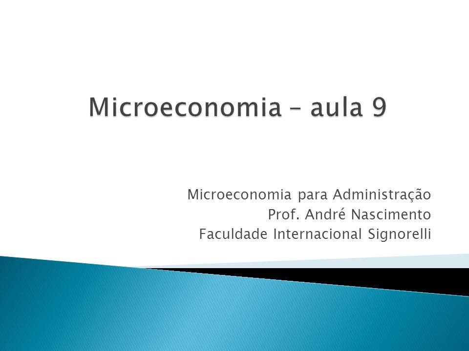 Microeconomia para Administração Prof. André Nascimento Faculdade Internacional Signorelli
