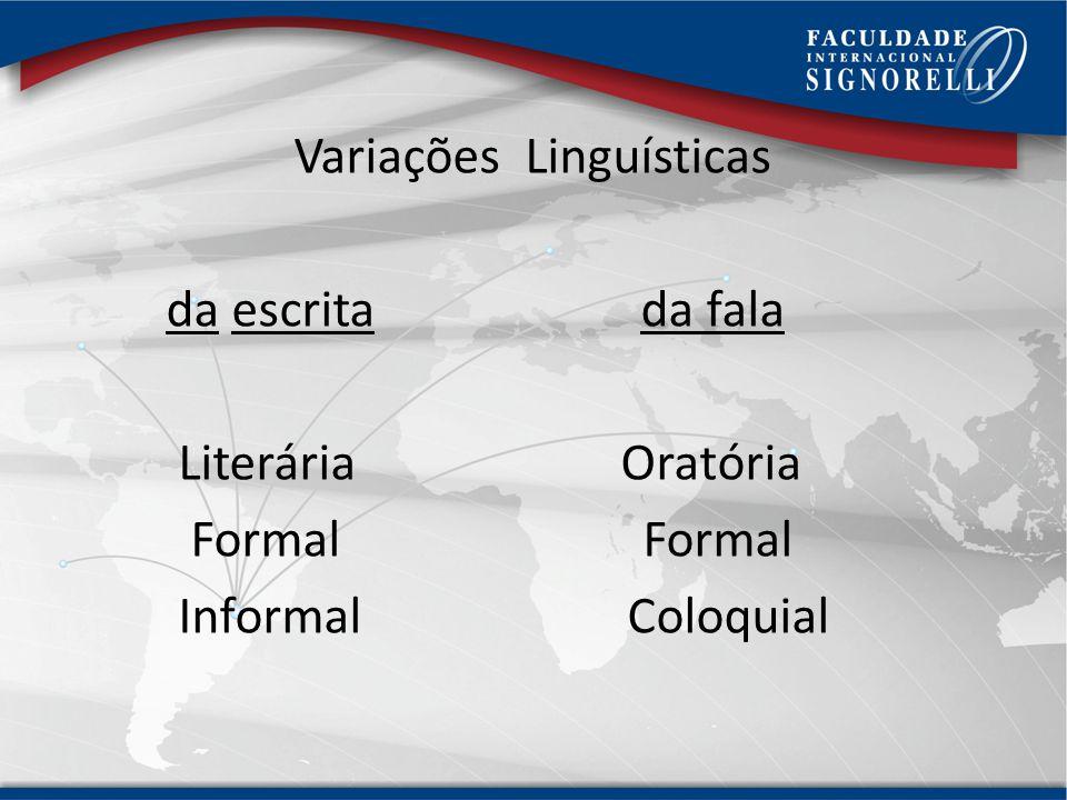 Língua Escrita e Língua Falada