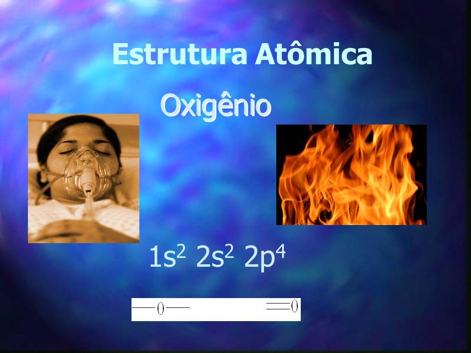 Estrutura Atômica Oxigênio 1s 2 2s 2 2p 4