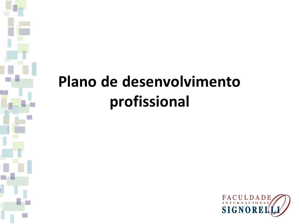 Plano de desenvolvimento profissional