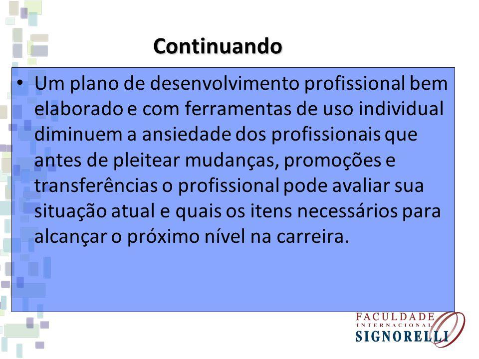 O profissional deve ter seus objetivos definidos e a organização dos objetivos será uma excelente ajuda para alcance das metas de carreira e de avanço profissional na empresa em que atua.