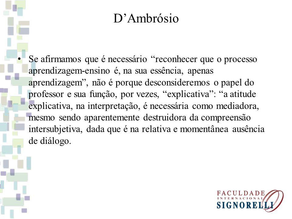 DAmbrósio Educar é um ato político.