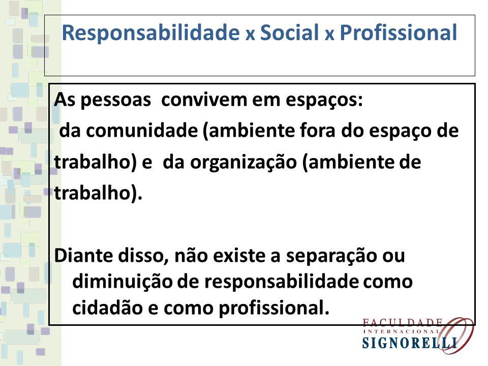 Responsabilidade Social A empresa com responsabilidade social assume atitude condizente junto a toda cadeia produtiva da empresa, incluindo-se clientes, funcionários, fornecedores e ambiente.