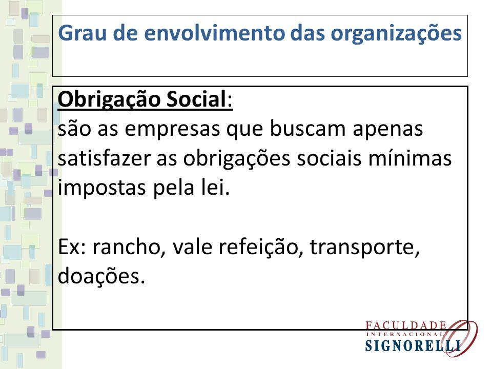 Responsabilidade Social: são as empresas que procuram receber ganhos financeiros com o seu trabalho e ganhos de aceitação das partes interessadas.