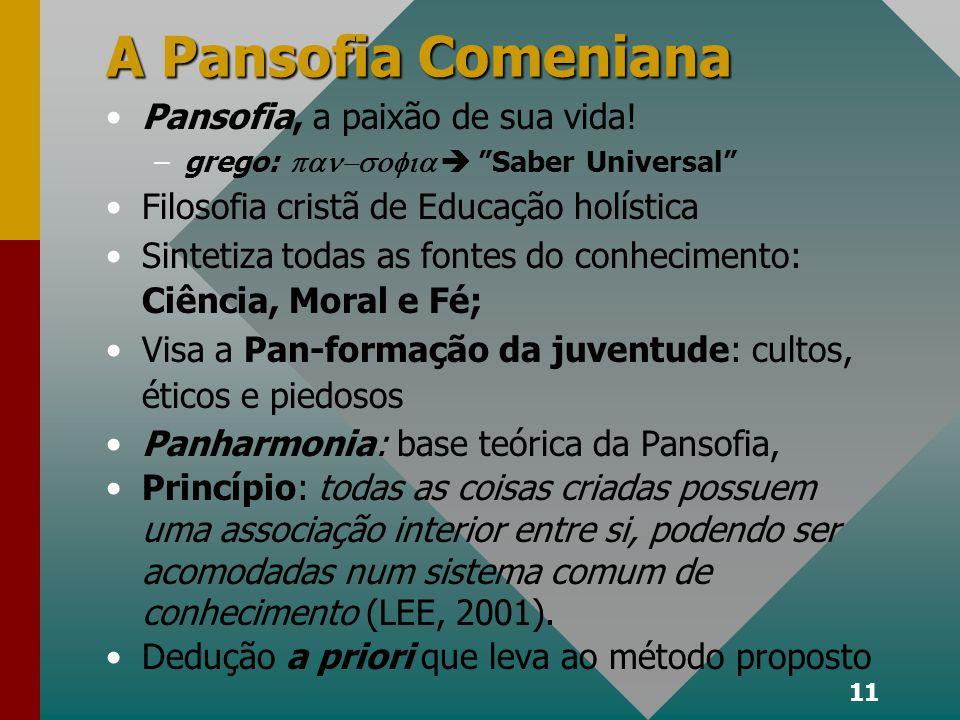 11 A Pansofia Comeniana Pansofia, a paixão de sua vida.
