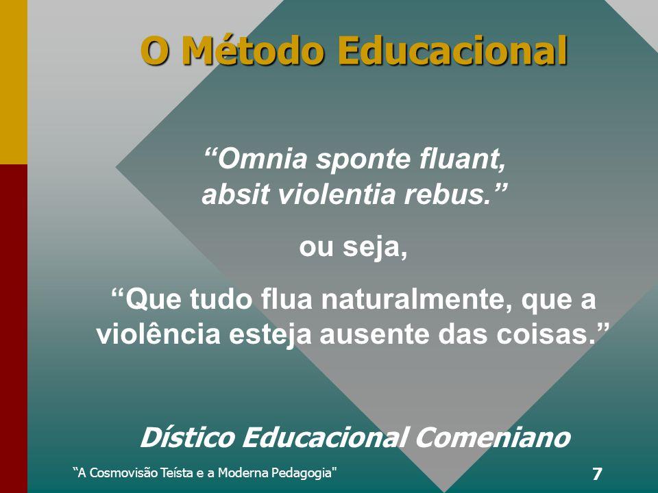 A Cosmovisão Teísta e a Moderna Pedagogia 7 O Método Educacional Dístico Educacional Comeniano Omnia sponte fluant, absit violentia rebus.