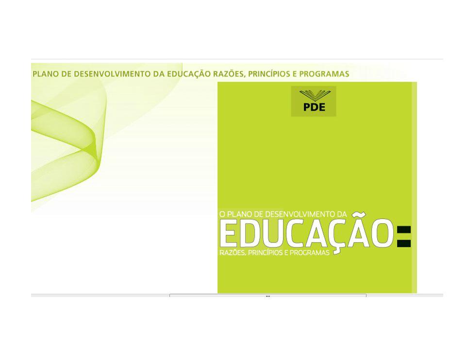 PDE é sustentado em seis pilares: i) visão sistêmica da educação, ii) territorialidade, iii) desenvolvimento, iv) regime de colaboração, v) responsabilização e vi) mobilização social
