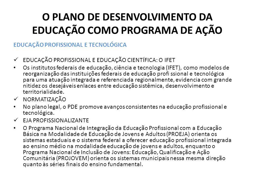 EDUCAÇÃO PROFISSIONAL E TECNOLÓGICA EDUCAÇÃO PROFISSIONAL E EDUCAÇÃO CIENTÍFICA: O IFET Os institutos federais de educação, ciência e tecnologia (IFET