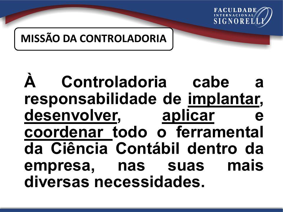 A missão da controladoria é otimizar os resultados econômicos da empresa visando garantir sua continuidade, por meio da integração dos esforços das diversas áreas.