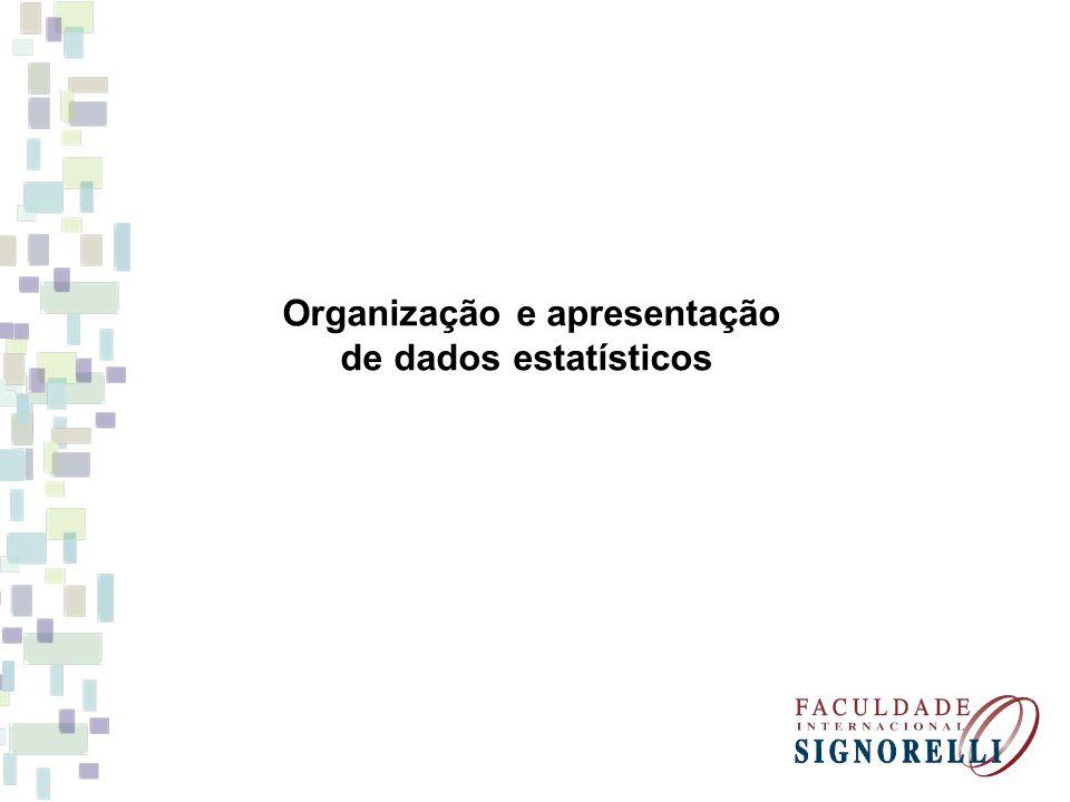 Organização e apresentação de dados estatísticos