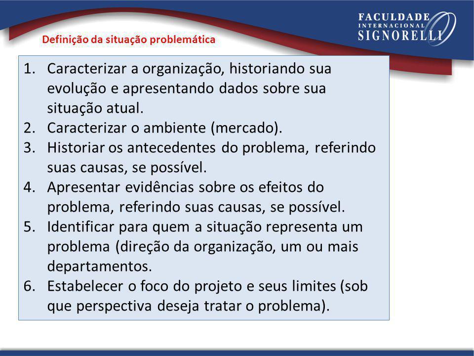 1.Caracterizar a organização, historiando sua evolução e apresentando dados sobre sua situação atual.