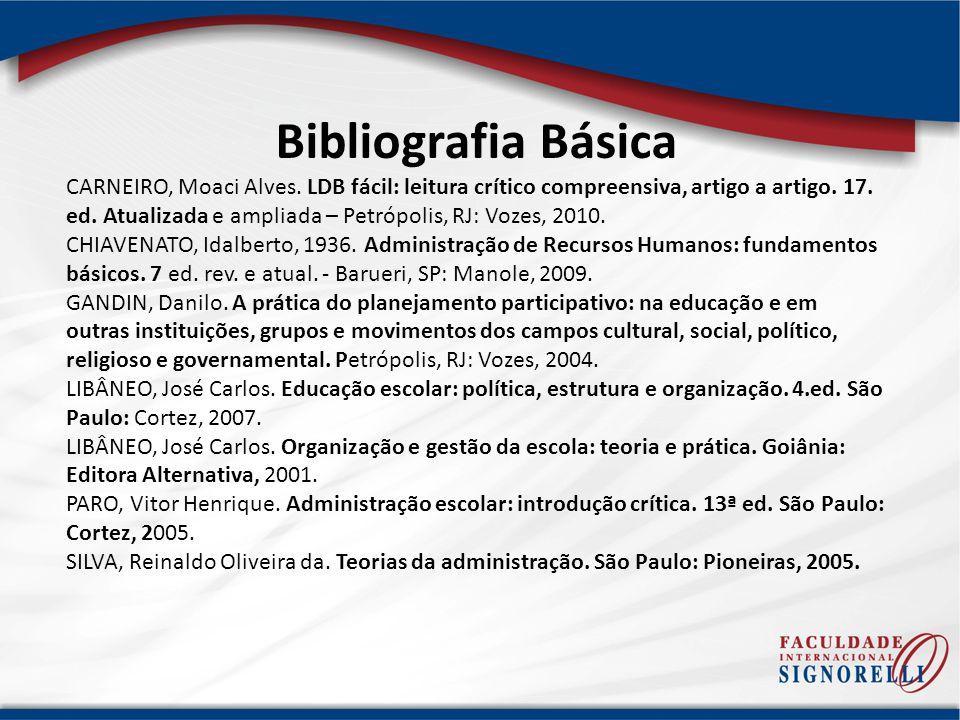 Bibliografia Complementar CASTORINA, José Antônio.