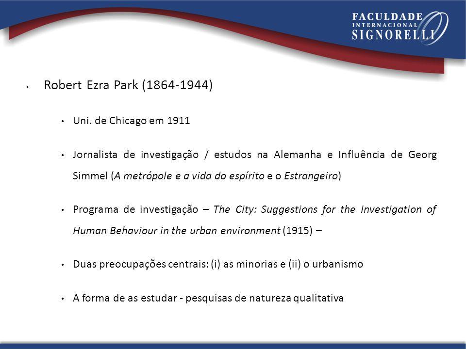 Robert Ezra Park (1864-1944) Uni.