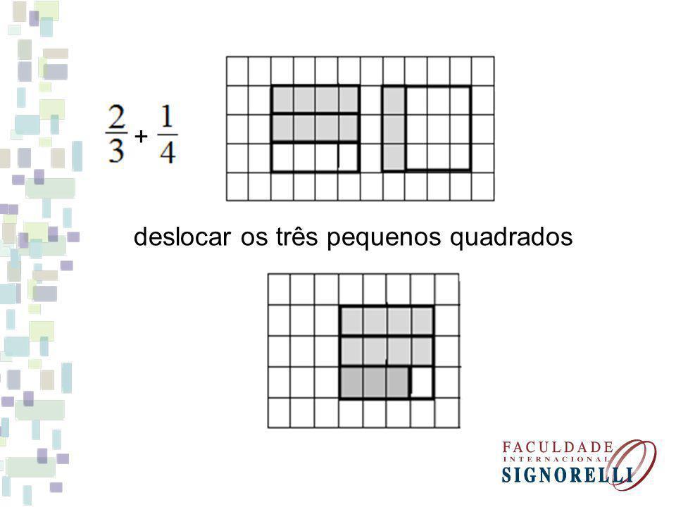 + deslocar os três pequenos quadrados