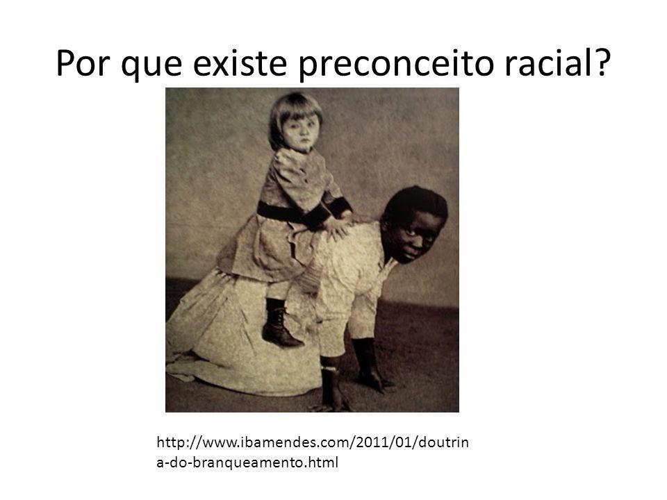 Por que existe preconceito racial? http://www.ibamendes.com/2011/01/doutrin a-do-branqueamento.html