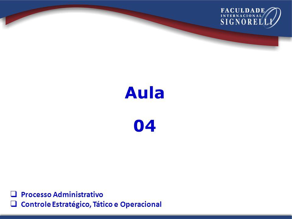 Aula 04 Processo Administrativo Controle Estratégico, Tático e Operacional