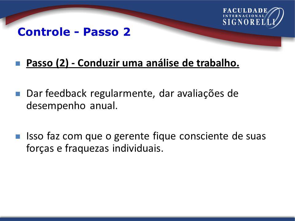 Passo (2) - Conduzir uma análise de trabalho.