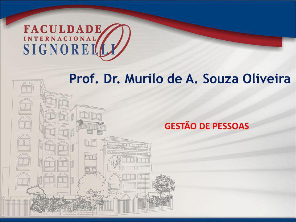 Prof. Dr. Murilo de A. Souza Oliveira GESTÃO DE PESSOAS