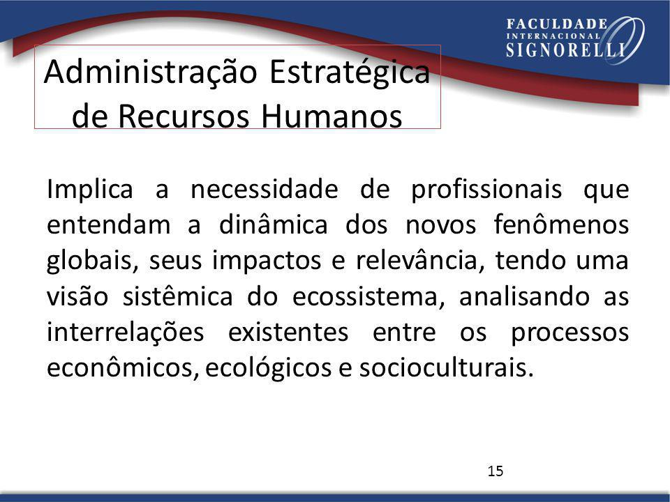 15 Implica a necessidade de profissionais que entendam a dinâmica dos novos fenômenos globais, seus impactos e relevância, tendo uma visão sistêmica do ecossistema, analisando as interrelações existentes entre os processos econômicos, ecológicos e socioculturais.