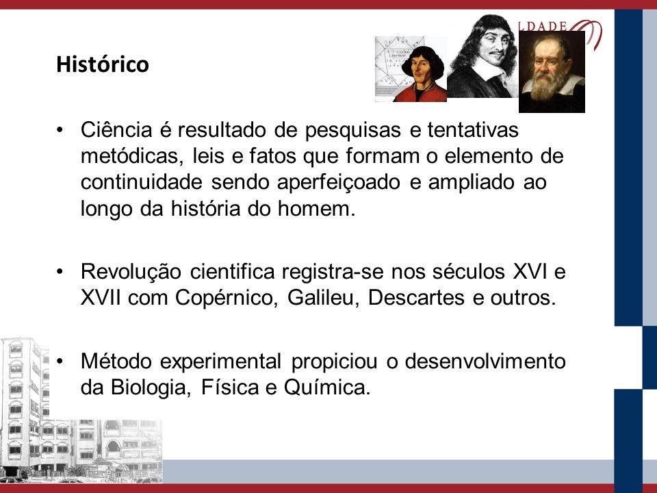 Histórico Ciência é resultado de pesquisas e tentativas metódicas, leis e fatos que formam o elemento de continuidade sendo aperfeiçoado e ampliado ao longo da história do homem.