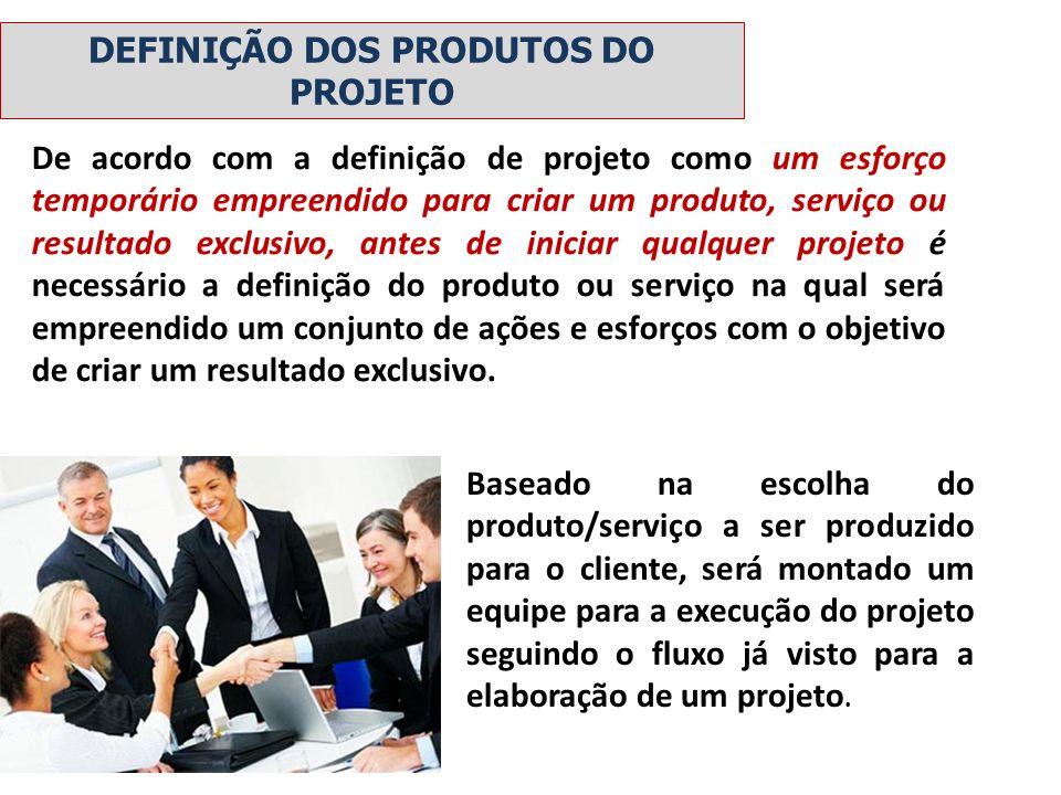 De acordo com a definição de projeto como um esforço temporário empreendido para criar um produto, serviço ou resultado exclusivo, antes de iniciar qu