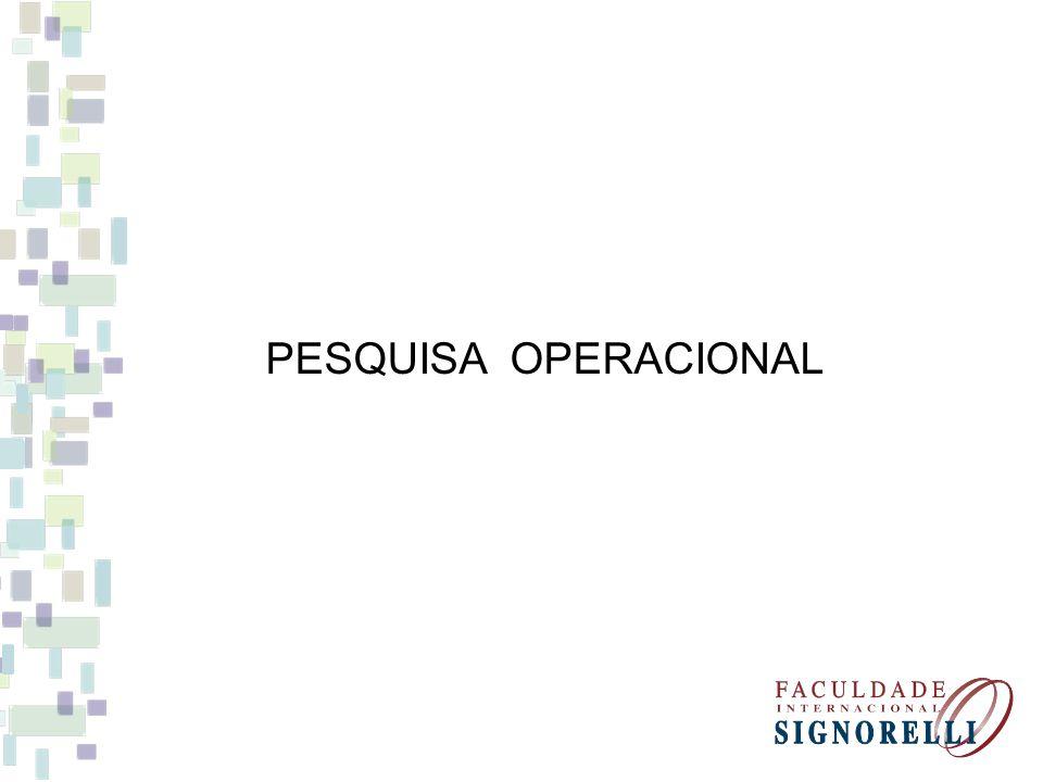PESQUISA OPERACIONAL